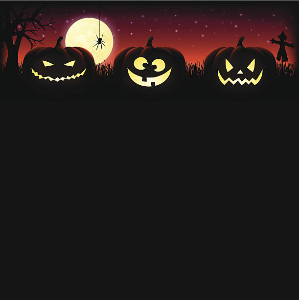 bildbanksillustrationer, clip art samt tecknat material och ikoner med halloween pumpkin background - halloween background