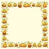Pumpkin Border for Halloween background