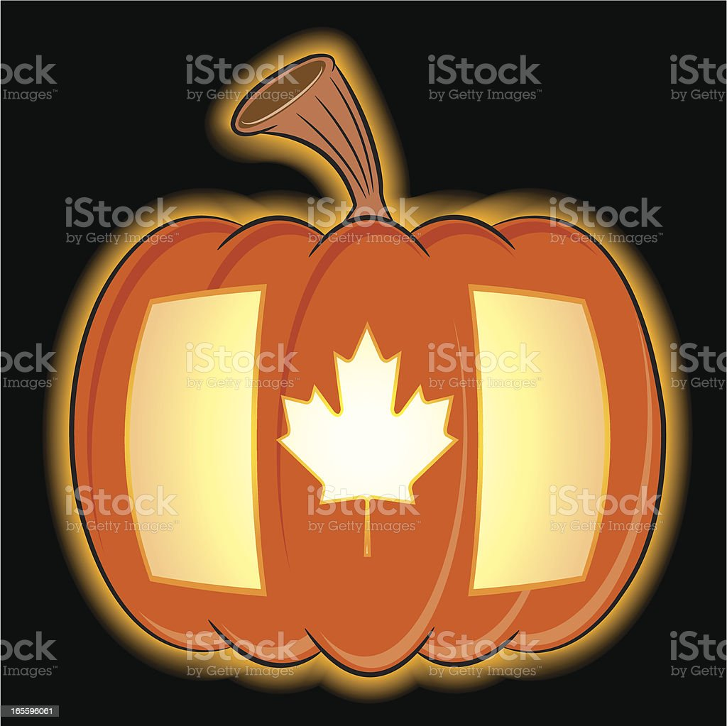 Halloween Pumpkin Canadian Flag royalty-free halloween pumpkin canadian flag stock vector art & more images of bizarre