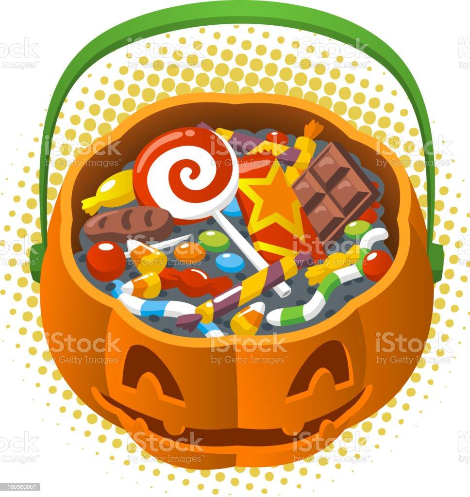 Halloween Pumpkin Candy Corn royalty-free stock vector art