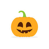 Halloween pumpkin character vector. Happy cute pumpkin vegetable for autumn October party illustration isolated on white