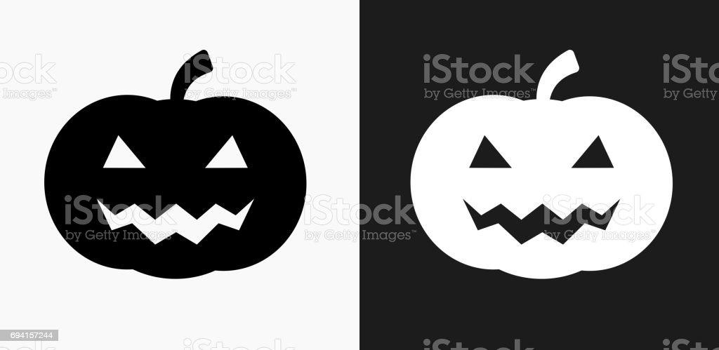 Ilustración de Icono De Cara De Calabaza De Halloween En Blanco Y ...