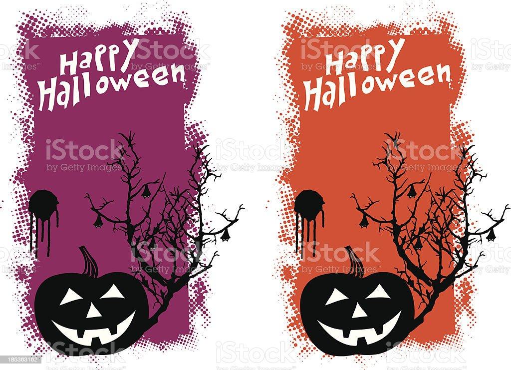 halloween pumpkin grunge scene royalty-free halloween pumpkin grunge scene stock vector art & more images of american culture