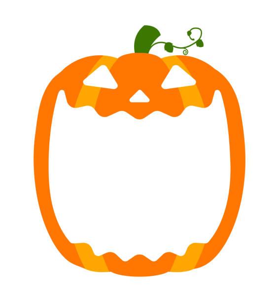 Halloween pumpkin head (jack o lantern) illustration (mouth open) / text space Halloween pumpkin head (jack o lantern) illustration (mouth open) / text space pumpkin stock illustrations