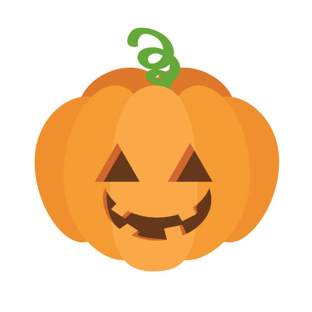 Halloween pumpkin icon illustration material vector art illustration