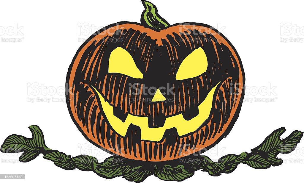 Halloween calabaza, de olivo ilustración de halloween calabaza de olivo y más banco de imágenes de embrujado libre de derechos