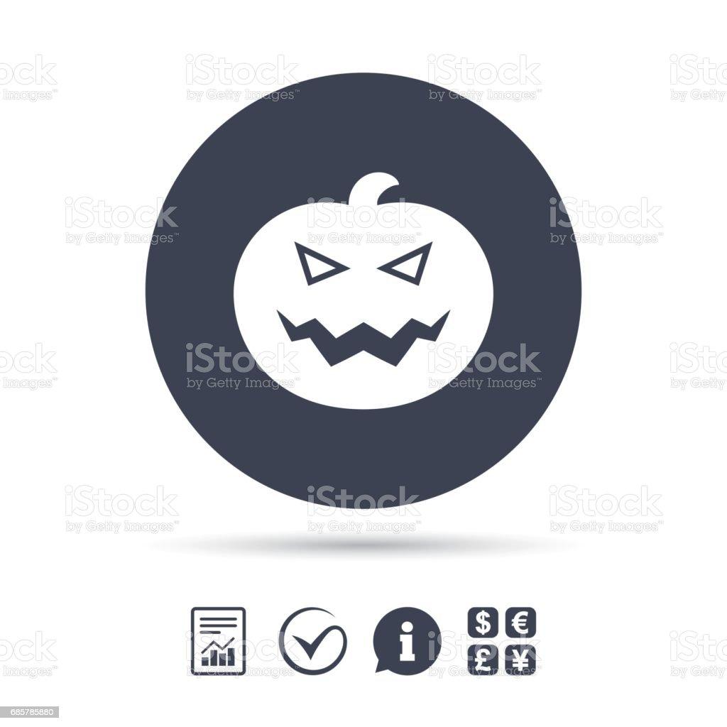 Cadılar Bayramı Balkabağı işareti simgesi. Cadılar Bayramı partisi. royalty-free cadılar bayramı balkabağı işareti simgesi cadılar bayramı partisi stok vektör sanatı & app'nin daha fazla görseli