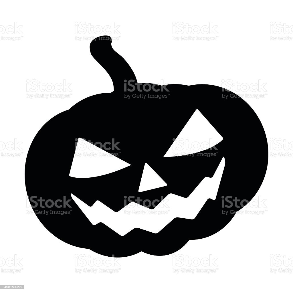 Halloween pumpkin silhouette vector illustration jack o for Pumpkin carving silhouettes