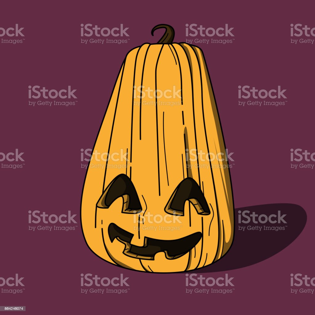 Halloween pumpkin smiling. Vector illustration. royalty-free halloween pumpkin smiling vector illustration stock vector art & more images of anthropomorphic face