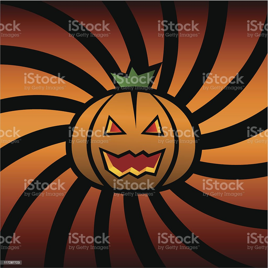halloween pumpkin vector art illustration