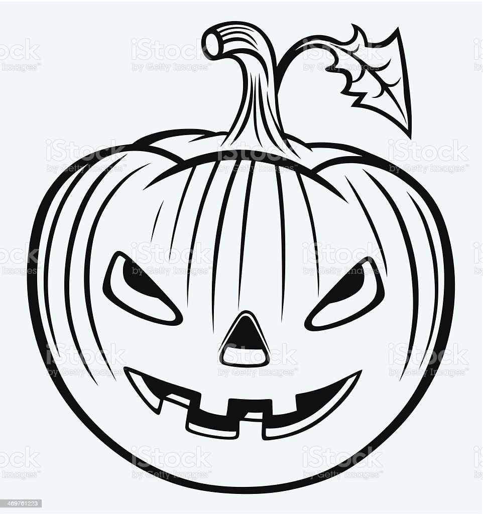 Halloween pumpkin royalty-free halloween pumpkin stock vector art & more images of furious