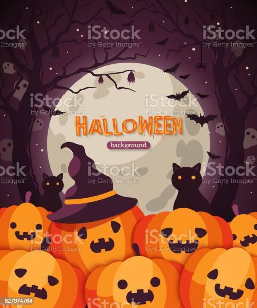 Halloween pumpkins in spooky forest vector id827974764?b=1&k=6&m=827974764&s=612x612&h=wzw6476sj9547iiopmwevl9khnyuhc4tw rb5xskyha=
