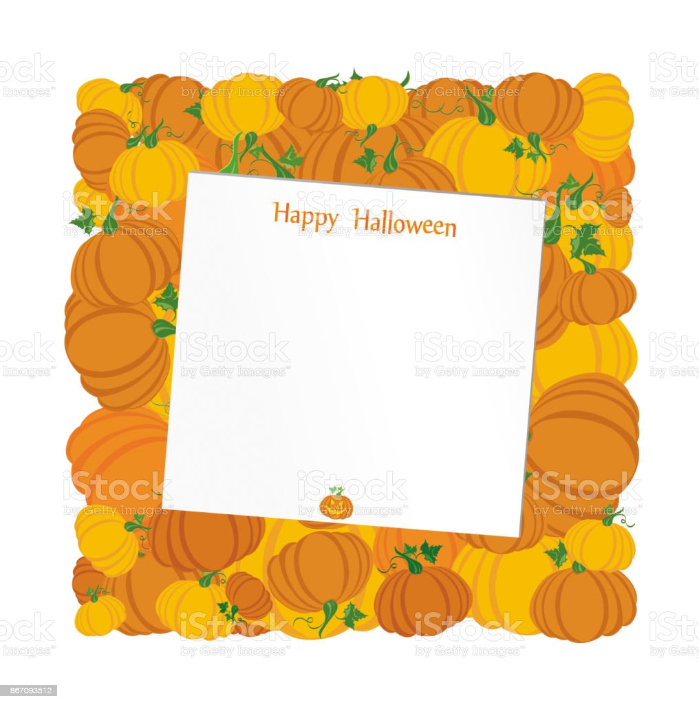 Halloween pumpkins in the form of a square greeting card or halloween pumpkins in the form of a square greeting card or invitation for a m4hsunfo