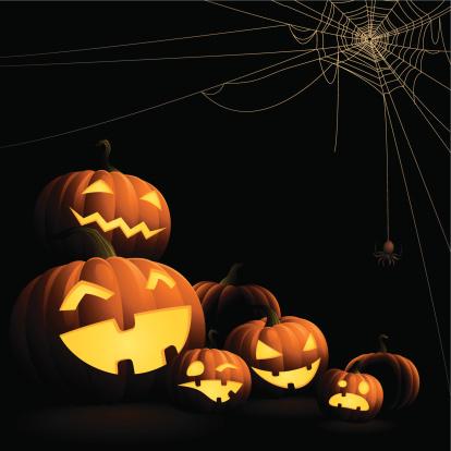 Halloween Pumpkins - Spider Web