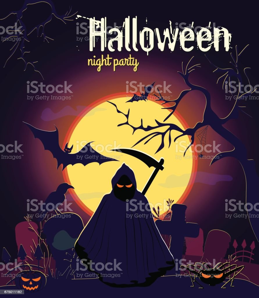 Halloween reaper and other characters royalty-free halloween reaper and other characters stock vector art & more images of abstract