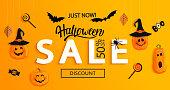 istock Halloween Sale banner. 1173403563