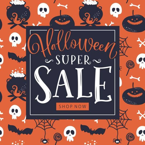Halloween Sale Background Pumpkin Stock Vector (Royalty Free) 1216030606