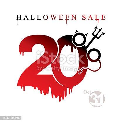 Ilustración de Venta De Halloween Descuento De Plantilla De Vector ...