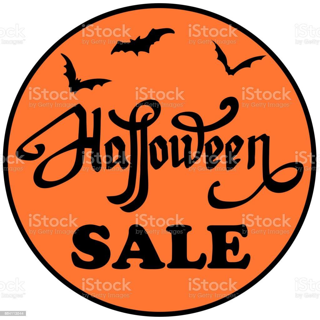 Halloween sale emblem. royalty-free halloween sale emblem stock vector art & more images of advertisement