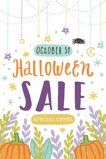 Halloween sale template.