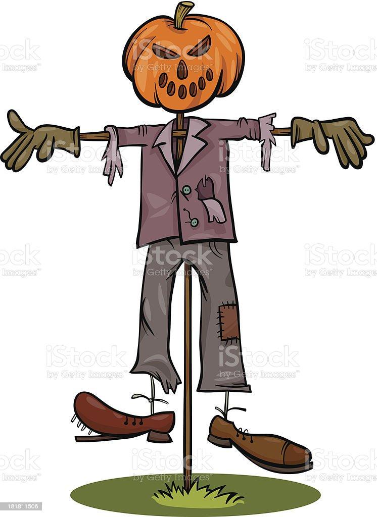 Ilustración de Halloween Espantapájaros Ilustración Dibujo Animado y ...