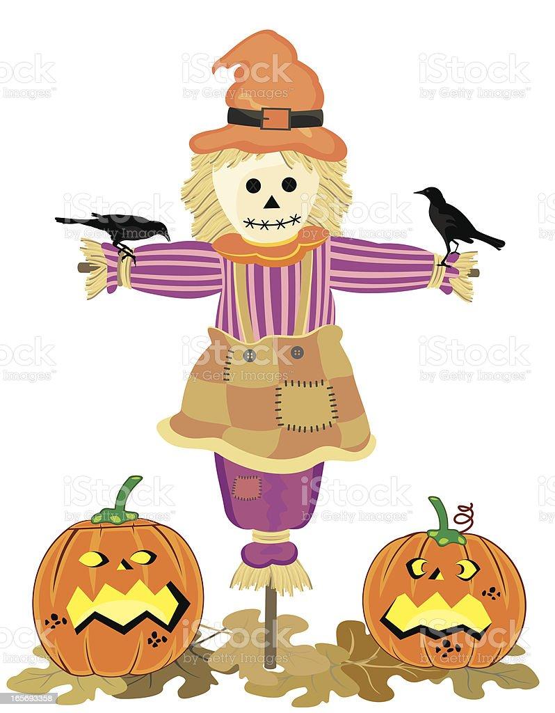 Halloween Scarecrow royalty-free stock vector art