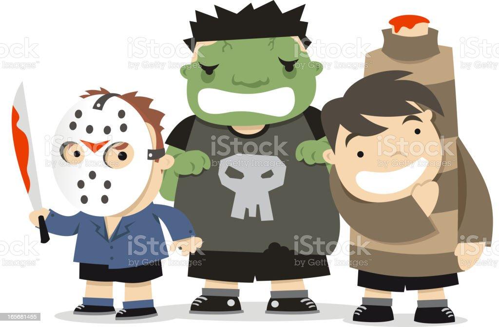 Halloween Scary Horror Costumes Garnments Stock Illustration