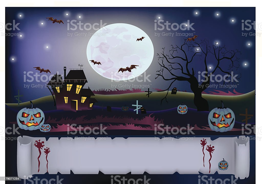 Halloween .scary house royalty-free halloween scary house stock vector art & more images of bat - animal