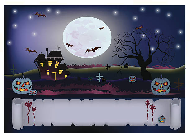 Royalty free broken glass door clip art vector images halloween ary house vector art illustration planetlyrics Image collections