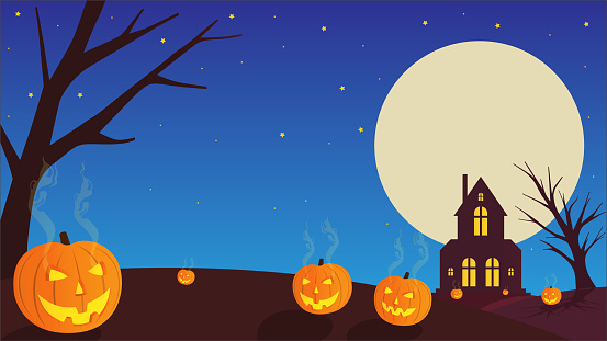 Halloween scary vector background.