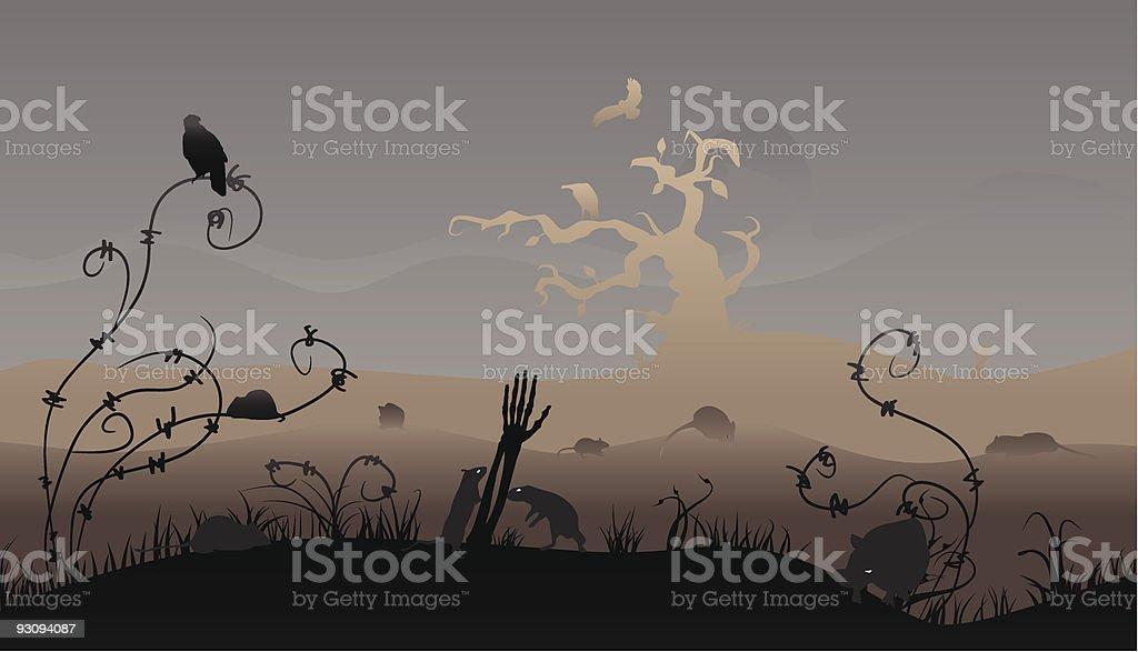 Halloween scene royalty-free halloween scene stock vector art & more images of animal