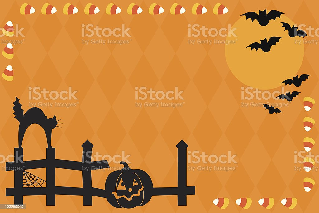 Halloween Scene with Copy Space royalty-free halloween scene with copy space stock vector art & more images of backgrounds