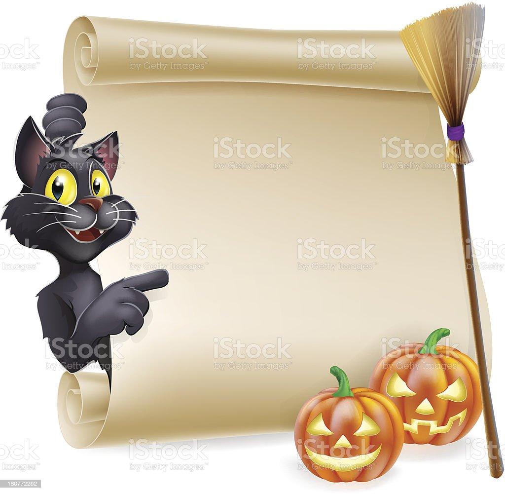 Halloween Scroll Sign royalty-free stock vector art
