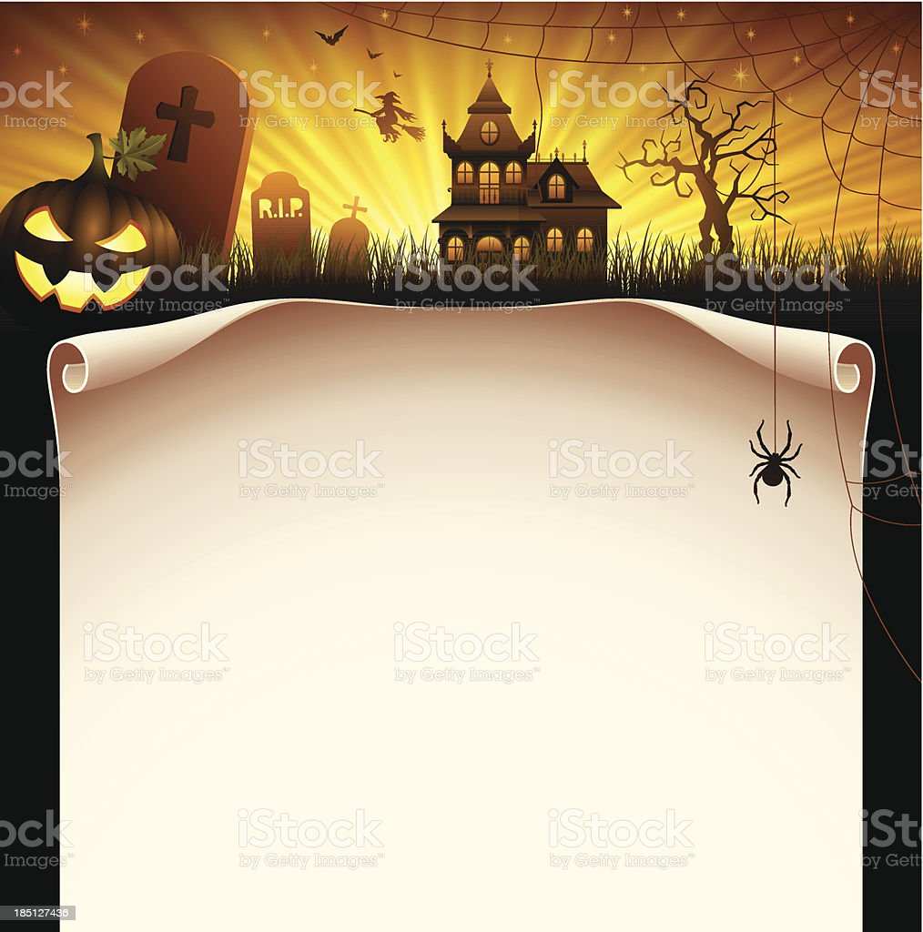Halloween Scroll royalty-free stock vector art