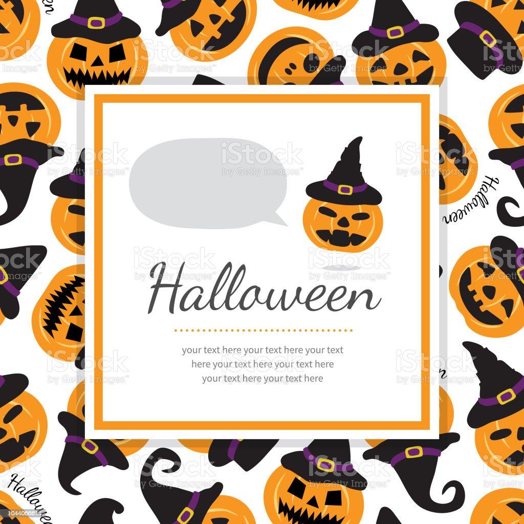 Halloween Nahtlose Muster Vorlage Mit Kürbissen Hexenhut Trägt Stock