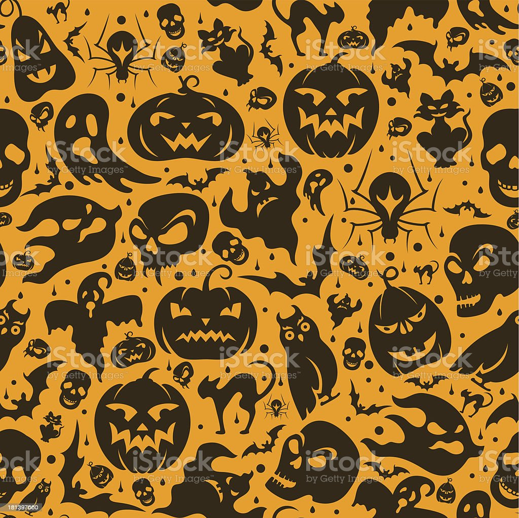Halloween Seamless Pattern royalty-free stock vector art