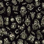 Halloween seamless pattern