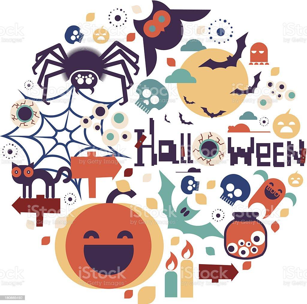 Halloween set royalty-free stock vector art