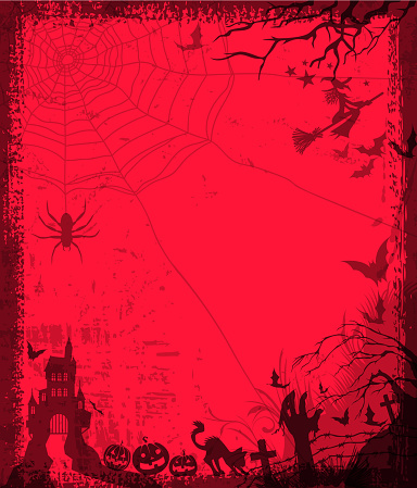 halloween silhouette frame