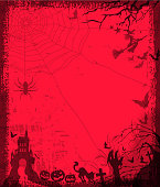 drawn of vector halloween frame.This file has been used illustrator cs3 EPS10 version feature of multiply.