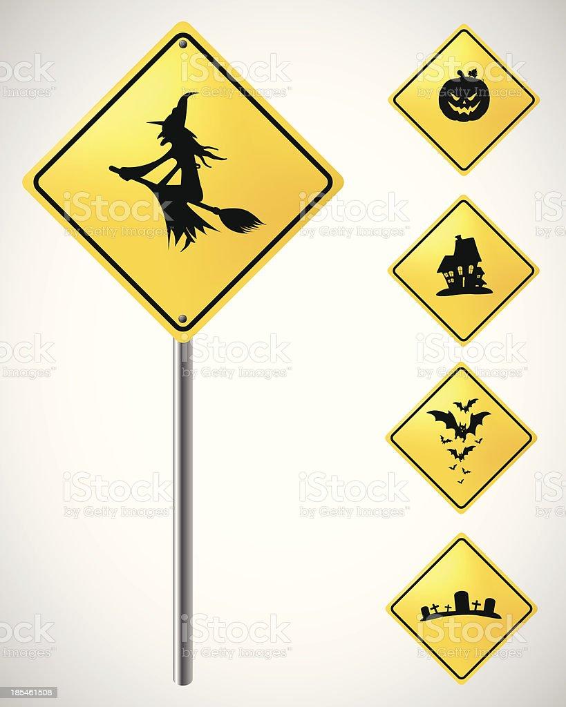Halloween sing vector art illustration