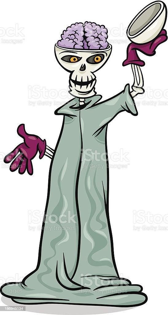 halloween skeleton cartoon illustration royalty-free halloween skeleton cartoon illustration stock vector art & more images of caricature