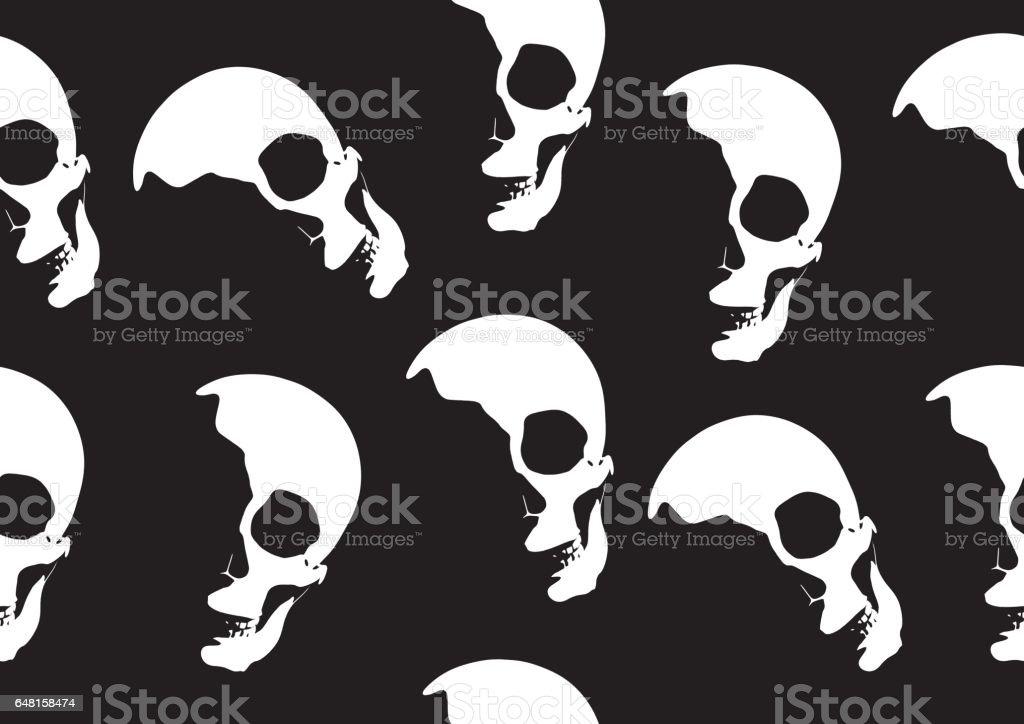 Halloween Skull Vector Wallpaper стоковая векторная