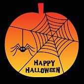 halloween spider web  pumpkin