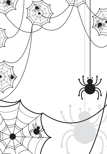 Halloween Spiderweb with Copy Space