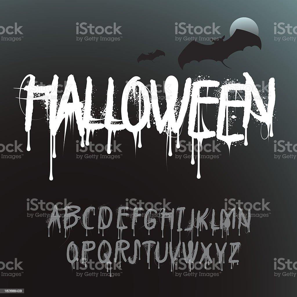 Halloween Splash Alphabet – Vektorgrafik