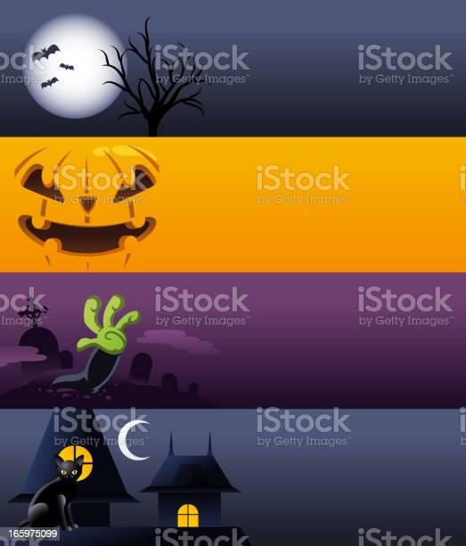 Halloween spooky banner banners pumpkin moon cat grave vector id165975099?b=1&k=6&m=165975099&s=612x612&h=xgfn4j3yxpphw7q0jrn9y8saxmr5ki oj1ygggzv6du=