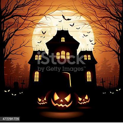 istock Halloween Spooky House 472291725