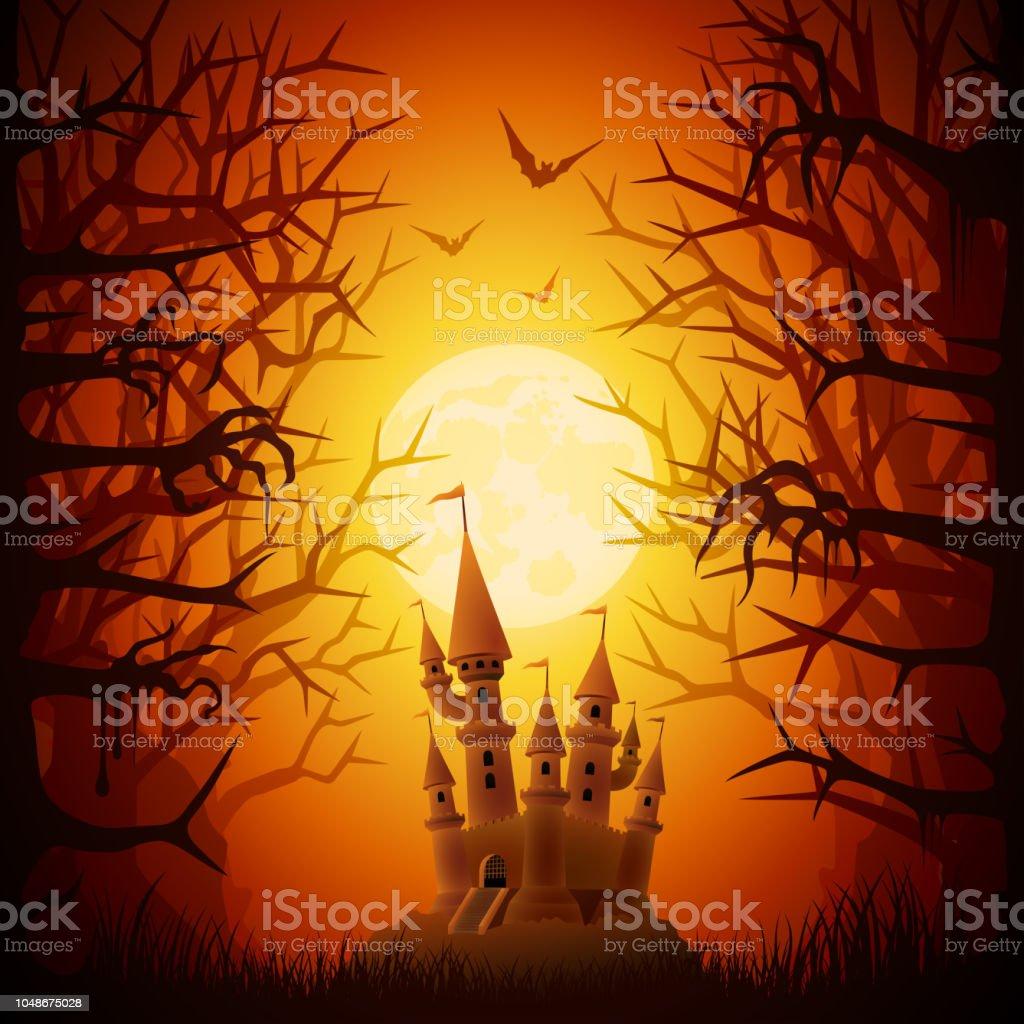 Halloween Spooky Night vector art illustration