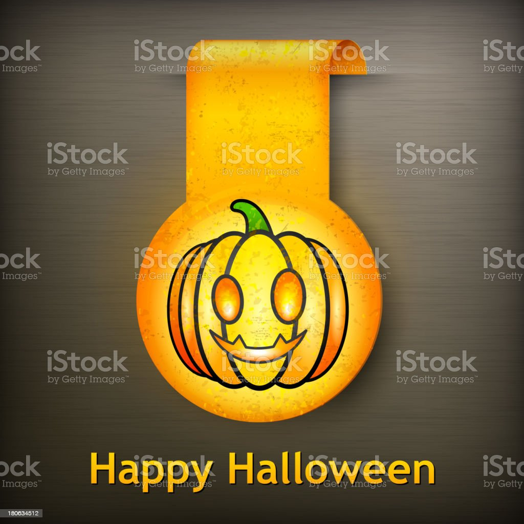 Halloween sticker grimace pumpkin royalty-free stock vector art
